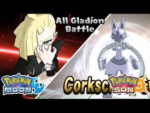 Pokemon Sun & Moon - All Gladion Battle (HQ)
