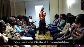 Hilarious comedy by Comedian David Aglah at Wear Ghana launch