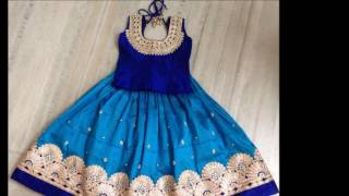 latest Fashion boat neck long frocks & lehenga designs for kids