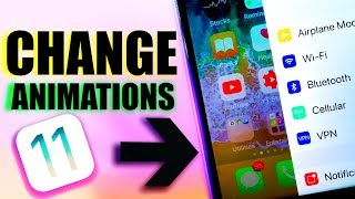 HOW TO CHANGE ANIMATIONS ON IOS 11 / NEW SECRET IOS 11 ANIMATION TO OPEN APPS !!