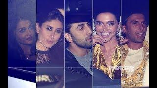 Aishwarya,Hrithik,Kareena, Ranbir,Deepika, Ranveer PARTY HARD At Shahrukh Khan's Mannat | SpotboyE