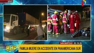San Bartolo: tres muertos tras aparatoso choque de autos en la Panamericana Sur (1/2)