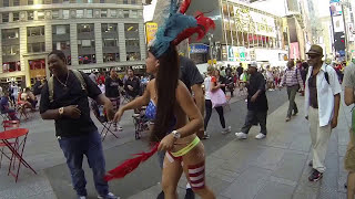 BEAUTIFUL TOPLESS / NAKED TIMES SQUARE GIRL / WOMAN ASS / BUTT GRAB