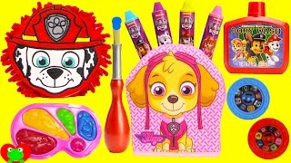 Paw Patrol Marshall and Skye Wash Buddy Bath Paints and Surprises