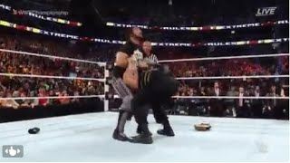 WWE Extreme Rules 2016 Seth Rollins Pedigree On ROMAN REIGNS WWE Extreme Rules 2016