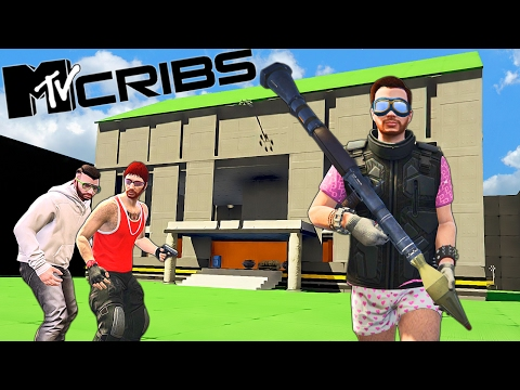 MY MTV CRIB TOUR -  MODDED MANSION TOUR!! -  Grand Theft Auto V (Funny Moments & FAILS)