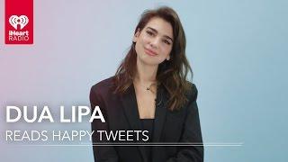 Dua Lipa Reads Fan Tweets! | Happy Tweets