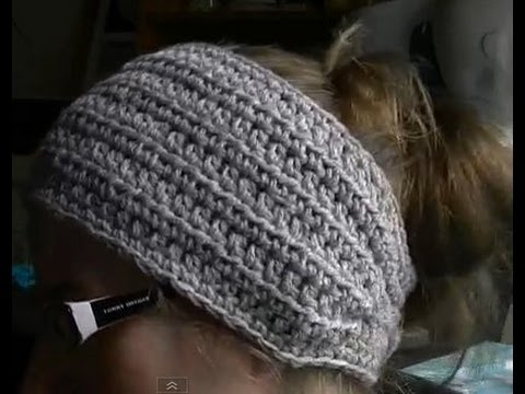 How to Crochet a Earwarmer Headband Part 1 of 2 You can make a Preemie to Adult size