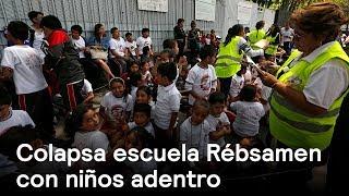 Colapsa jardín de niños Enrique Rebsamen en el sur de la CDMX - En Punto con Denise Maerker