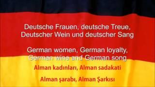 Alman Milli Marşı (Türkçe Altyazılı) (Tam Versiyon)