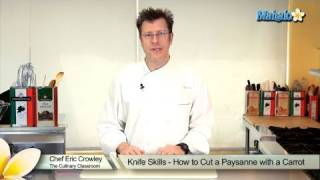 Knife Skills - How to Cut a Paysanne With a Carrot