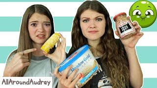 EATING WEIRD FOOD COMBINATIONS SUGGESTED BY FANS! / AllAroundAudrey