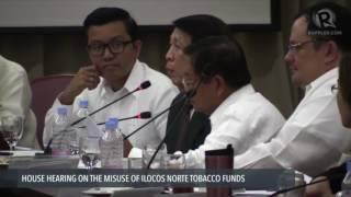 Rep. Rodolfo Fariñas grills former Ilocos Norte auditor