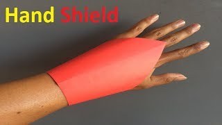 How to make a paper hand shield  | Origami Easy and Super Hand Shield
