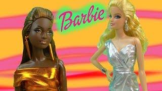 Barbie Collectors City Shine Copper Bronze Dress Doll Mattel Black Label Unboxing Toy Review