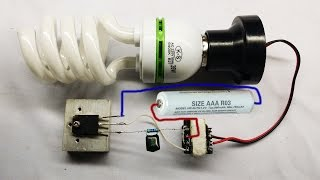 How to make easy inverter circuit 12V DC for Fluorescent Lamps at home