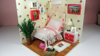 DIY Miniature Dollhouse Bebroom (FULL VIDEO) / Cách làm phòng ngủ dễ thương cho búp bê / Ami DIY