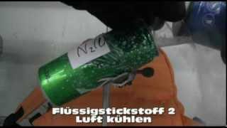Liquid nitrogen 2 Cooling air - Flüssigstickstoff Luft kühlen