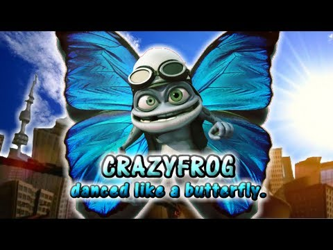 CrazyFrog danced like a butterfly. 蛙のように舞いーニョ