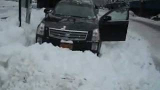 Cadillac SRX in the snow