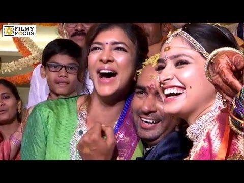 Manchu Lakshmi Sits on Krish Lap at Director Krish - Ramya Marriage Ceremony - Filmyfocus.com