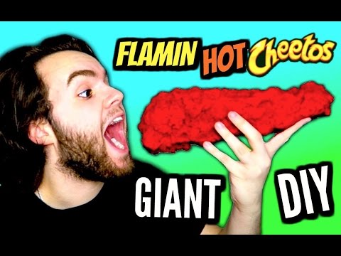 DIY Giant Flamin' Hot Cheeto! | How To Make HUGE Edible Hot Cheetos! | Biggest Chips In The World!