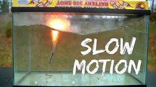 Mini Rockets Fired Under Water (in Super Slow Motion!)