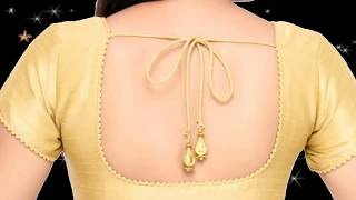 Sare wear blouse back neck designs