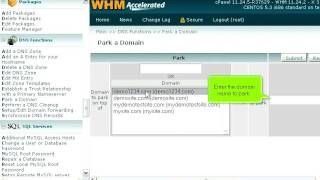 How to park a domain in WHM