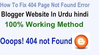 fix custom page not found in blogger urdu hindi