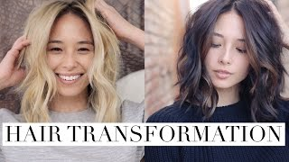 My Hair Color Transformation - Blonde To Brunette | Aja Dang