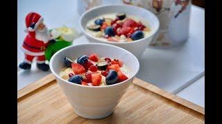 No Cook Oats-Fruits-Yogurt  || Healthy  Soak Oatmeal Breakfast - best  for diet  |Ep:253