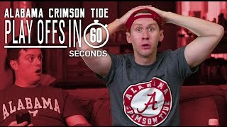 Alabama Crimson Tide Fans | College Football Playoffs in 60 Seconds
