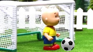 Funny Animated cartoon Kids | Caillou plays football | Soccer Fun WATCH ONLINE | Caillou Stop Motion