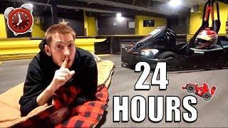 24 HOUR OVERNIGHT CHALLENGE IN GO KART TRACK!