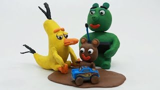 Muddy Baby Angry Birds Play Cars Play Doh Stop Motion Video Superhero Kids Animation Movie