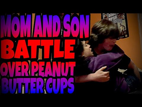 Xxx Mp4 MOM AND SON BATTLE OVER PEANUT BUTTER CUPS 3gp Sex