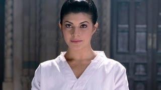 Jacqueline shows her Karate skills   Aladin