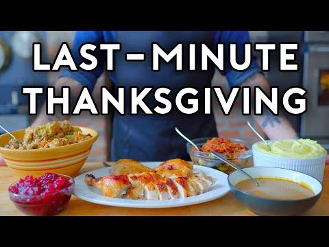 Last Minute Thanksgiving Basics with Babish
