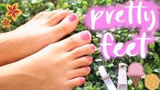 Pretty Feet Hacks: HOW TO GET PRETTY FEET| Paris & Roxy
