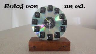 Hacer un reloj con un cd / Make a clock with a cd