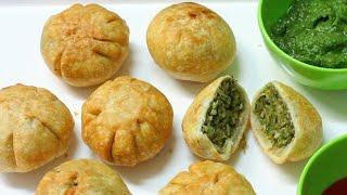 Toovar/Tuar Lilva & Matar Kachori - Gujarati Stuffed Lilva Kachori - Tea Time Snacks Recipe