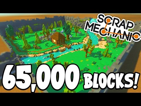 Scrap Mechanic CREATIONS 65 THOUSAND BLOCK CREATION 32 W AshDubh Gameplay