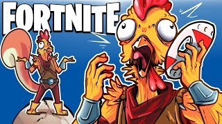 H2O DELICIOUS CHICKEN IN TILTED TOWERS! (NEW Chicken Skin!) - Fortnite Battle Royale