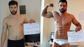 Part II: Amazing 30 Days Transformation - Natural Extreme Fat Burn Challenge (Steroid FREE)