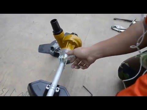 ปั๊ม 1.5 นิ้ว ใช้สวมเครื่องตัดหญ้าแบบสะพาย 1.5 inch Pump driven by engine from grass cutter machine