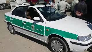 La grève générale des routiers continue en Iran, ici àNeychabour. le 26 septembre.