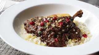 Duck Fesenjan Recipe - Duck Stewed with Pomegranate and Walnuts