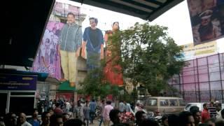 Puri Jagannadh Fans Hungama at Sandhya 70 MM for Jyothi Lakshmi FDFS