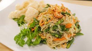 Rice Noodle Salad Recipe  ยำขนมจีน - Hot Thai Kitchen
